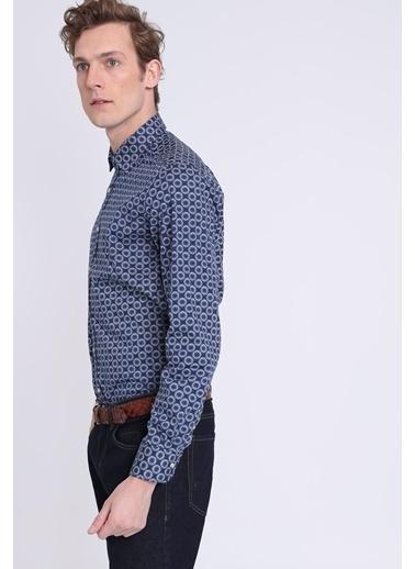 Desenli Uzun Kollu Gömlek-Lufian